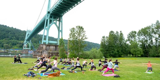 Free Yoga at Cathedral Park