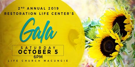 Restoration Life Center's 2nd Annual Gala tickets