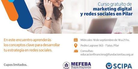 MARKETING DIGITAL Y REDES SOCIALES con FUNDACION BANCO ITAU  entradas