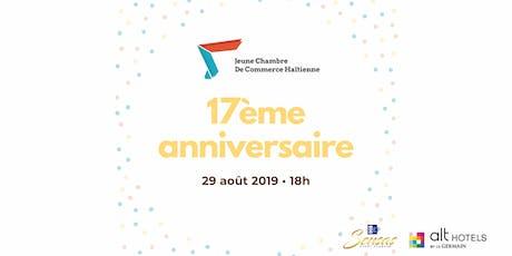 17ème anniversaire - Jeune Chambre de Commerce Haïtienne billets