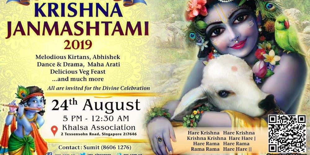 Sri Krishna Janmashtami Celebration 2019 Tickets, Sat, Aug 24, 2019