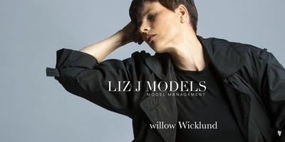 the Editorial Model Pose with willow Wicklund