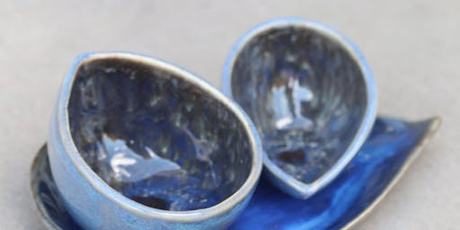 Adewole Arts Clay Kitchen @Crafted learn pottery; make a Ceramic Trinket Set
