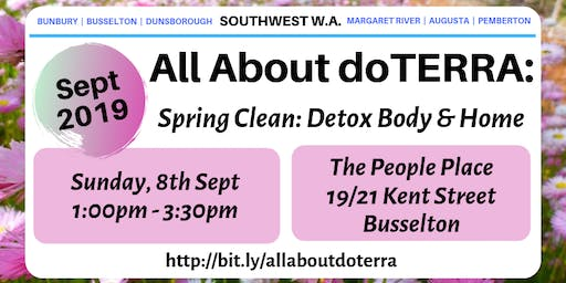 All about doTerra South West - Spring Clean: Detox Body & Home