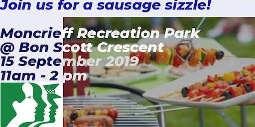Moncrieff Neighbourhood Watch  Sausage Sizzle