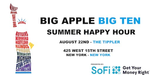 Big Apple Big Ten Summer  Happy Hour Presented by SoFi