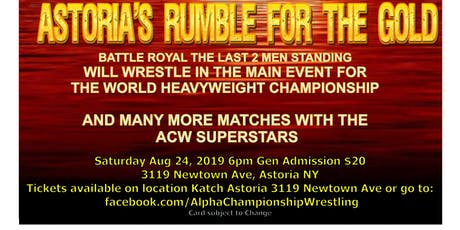 Astoria's Rumble for the Gold tickets