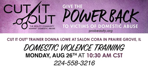Cut it Out Domestic Violence Training