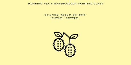 Morning Tea and Watercolour Painting Workshop: LYCHEE DREAMS tickets