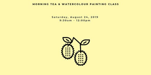 Morning Tea and Watercolour Painting Workshop: LYCHEE DREAMS