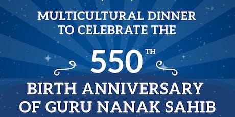 Multicultural Dinner on the 550th Parkash Purab of Guru Nanak Sahib tickets