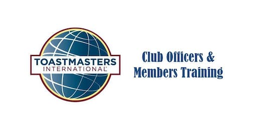 Last Last Call for District Membership and Club Officers Training-August 31,2019