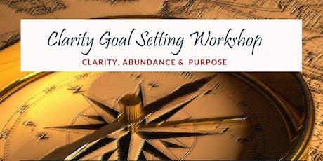 Clarity Goal Setting Workshop  tickets