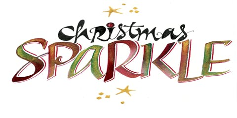 Christmas Sparkle Calligraphy