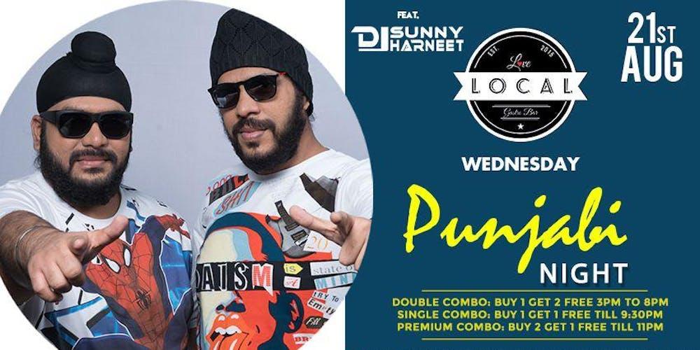 Wednesday Punjabi Night - Dj Sunny & Dj Harneet Tickets, Wed, Aug 21