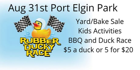 Port Elgin Community Hall 1st Annual Duck Race Day tickets
