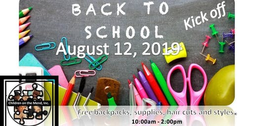 Children on the Mend, Inc., Annual Back to School Kick Off