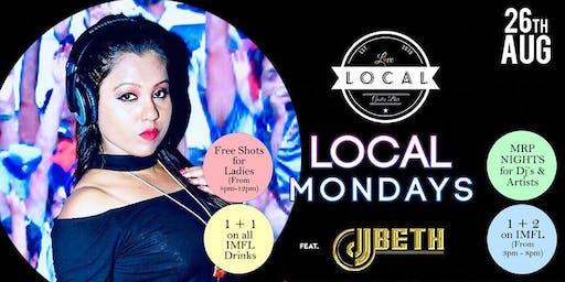 Local Mondays - Dj Beth