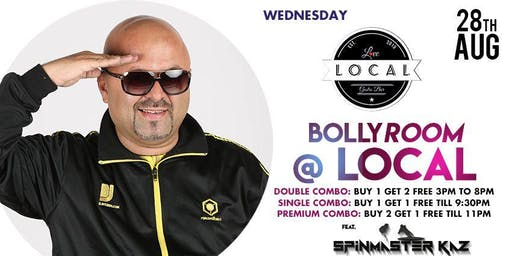 Wednesday Bollyroom Night - Dj Spinmaster Kaz