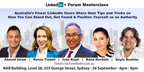 The LinkedIn + Forum Masterclass tickets