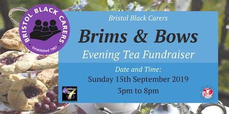 Brims & Bows - Bristol Black Carers Evening Tea Fundraiser  tickets