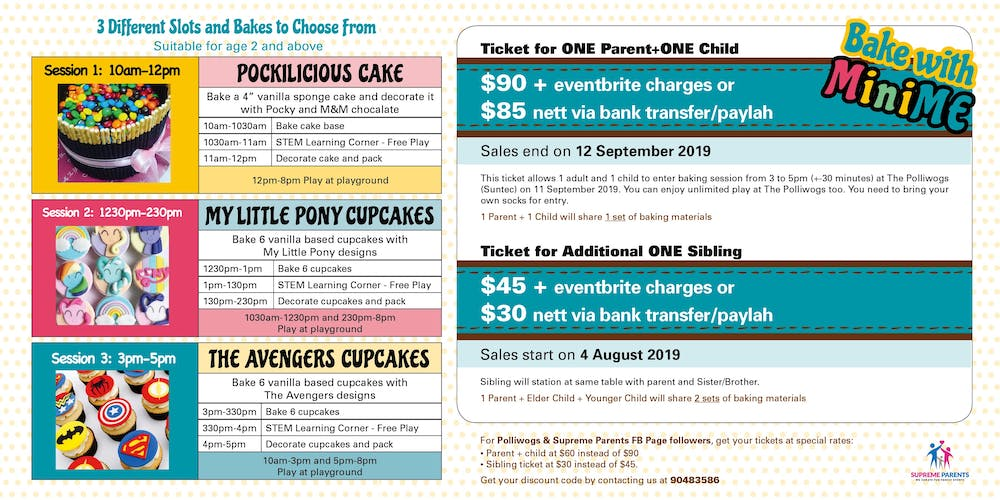 BAKE WITH MINIME @ Suntec Polliwogs Tickets, Wed 11 Sep 2019 at 10