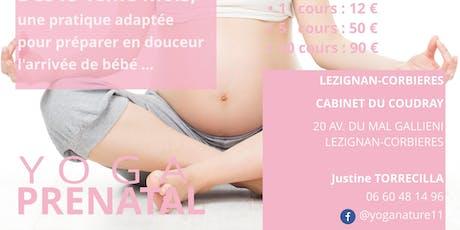 YOGA Prenatal à Lézignan-Corbières billets
