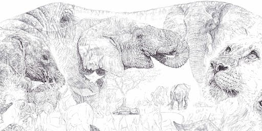 ELEPHANTS & OTHER AFRICAN WILDLIFE BIRO DRAWING WORKSHOP