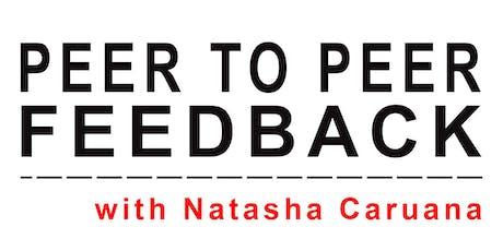 Peer to Peer Feedback artist workshop with Natasha Caruana tickets