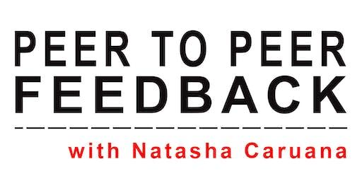 Peer to Peer Feedback artist workshop with Natasha Caruana