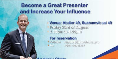 Become a Great Presenter and Increase Your Influence
