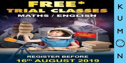 Kumon Free* Trial Classes Maths / English