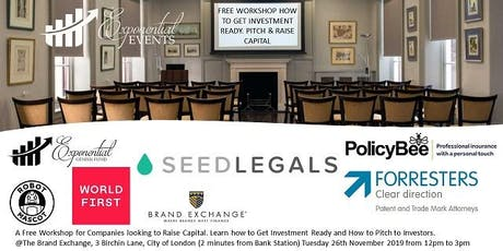 Free Workshop-Learn How to Get Investment Ready, Pitch & Raise Capital tickets