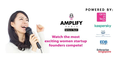 Girls in Tech AMPLIFY PARIS 2019 - a competiton for female-led startups