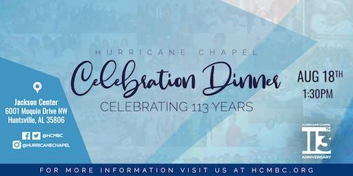 Hurricane Chapel Anniversary Celebration Dinner