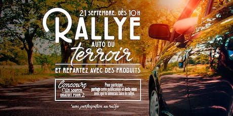 Rallye auto du Terroir billets