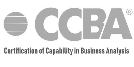 CCBA Training Online - Certification of Capability in Business Analysis - Calgary tickets