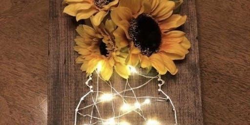 Light Up Mason Jar String Art