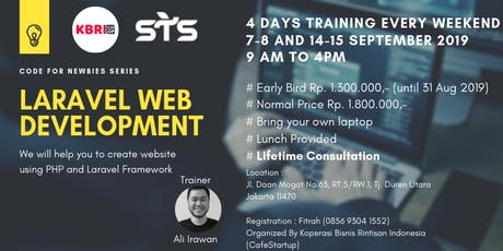 Laravel Web Development Training (Berbayar) tickets