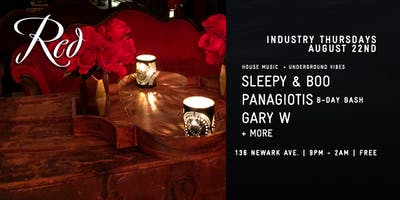 House music at Red Lounge Jersey City - Sleepy & Boo + guests - free