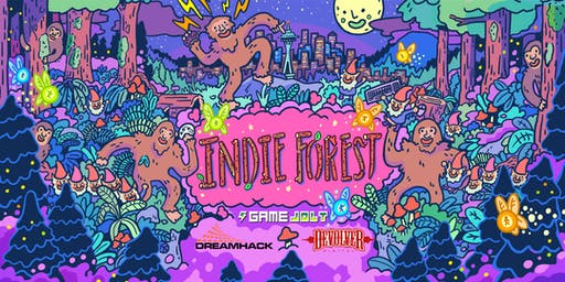 Indie Forest by Game Jolt, Devolver Digital and DreamHack