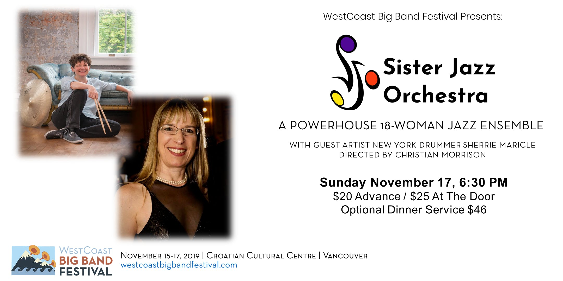WestCoast Big Band Festival Finale Featuring Sister Jazz Orchestra