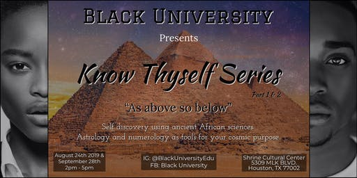 Know Thyself  Series- Part 1