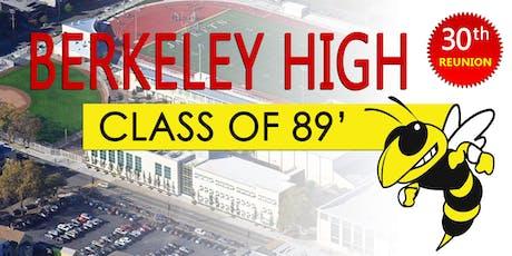Berkeley High School Reunion - Class of 89' tickets