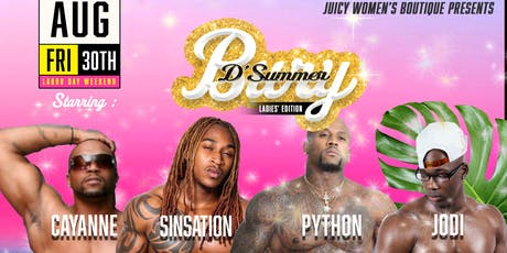 JWB Presents Bury D'Summer Ladies' Night Edition Labor Day Weekend.   tickets