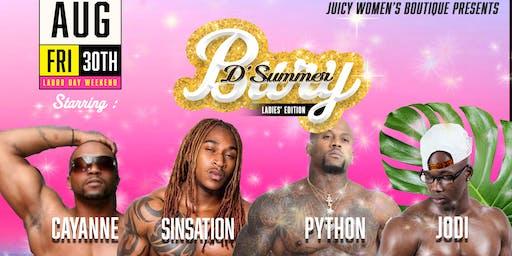 JWB Presents Bury D'Summer Ladies' Night Edition Labor Day Weekend.