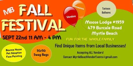 Myrtle Beach Fall Festival tickets