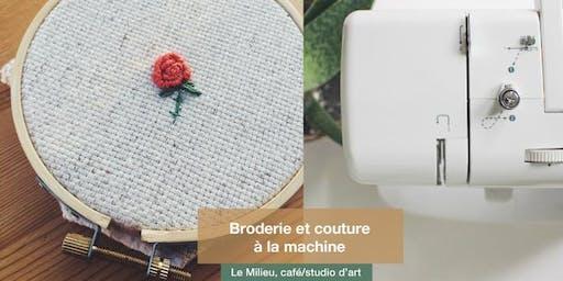Broderie et couture à la machine