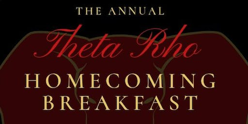 The Annual Theta Rho Homecoming Breakfast