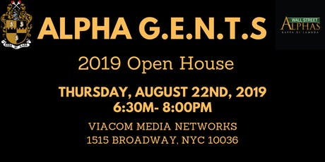 Alpha G.E.N.T.S. Open House tickets